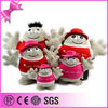 6pcs Big Family Plastic Big Eys With Spendex Cloth and Cotton Hat 2015 Newly Customzied Soft Stuffed Plush Human Doll Toys