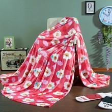 polyester thick warm flannel fleece blanket cartoons sheep design