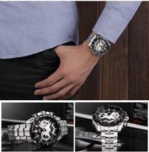 Hot Fasion Heavy Metal Fashionable Sports Watch Men's Watch Big Wristwatch for Your Fashion Taste Edfis Series Metal Watch
