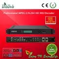 Profissão ts scrambler hd/sd h. 264 processador integrado decodificador receptor com slot ci
