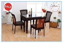 best selling pe Rattan table outdoor furniture PRT14812