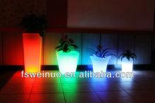 2015 weinuo LED chrismas party festival flower pot decoration 8712