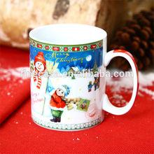 11OZ Fine White Porcelain Snowman Ceramic Coffee Mug