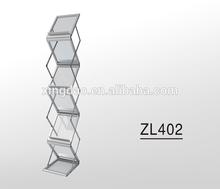 Aluminum-alloy Collapsable (Z-fold) Magazine Display holding