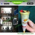 De la mano de pizza de producción de línea de la máquina/cono pizza equipo/cono de pizza de la máquina para la venta