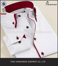 button down double collar cotton shirt