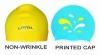 Multicolor silicone swimming cap