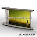 Acryl magnetischen fotorahmen, kreative dunkelbraun flip frame