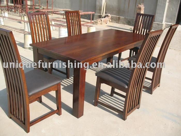 Ucf0025 moderno comedor de madera de roble muebles mesas for Muebles en madera modernos