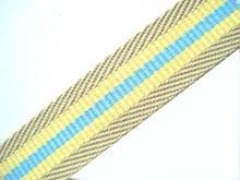 Designer fabric weave webbing trimming strap stripe