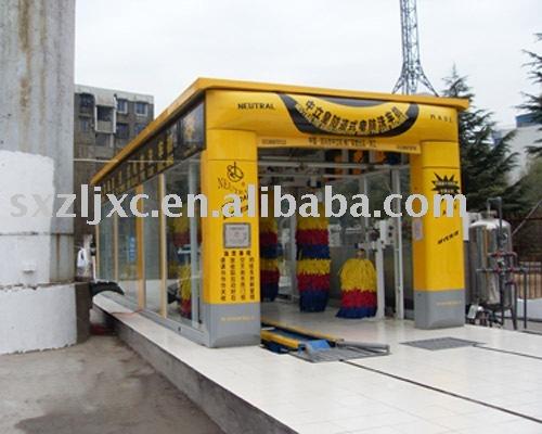 Tunnel car washing machine
