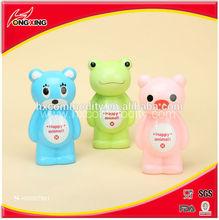 Happy animal design Plastic coin bank box