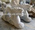 statue en pierre de dragon de jardin de granit, sculpture en dragon, découpages de dragon