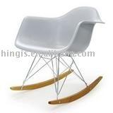 classic modern fiberglass rocking chair HC036A