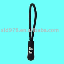 Fashional plastic zipper slider with logo for bag