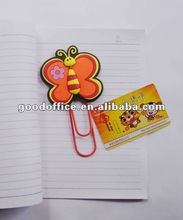 2012 New Design and high quality gifts Soft pvc paper clip