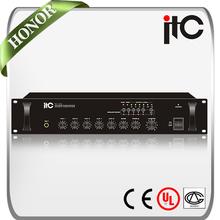 ITC TI-60 Series 60W to 240W 5 Zone Mic and Line Source Public Address System Amplifier