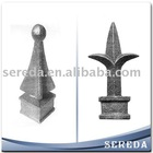 Used for fences gates and doors ornamental wrought iron spear points