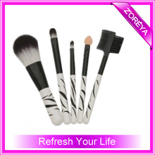 5pcs fashional cheap promotional make up cosmetic brush set