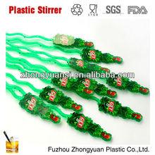 Disposable plastic custom swizzle sticks in wine bar
