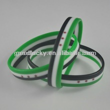2012 Beautiful promotional silicone wristbands
