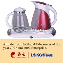 2012 New item plastic kettle with tea tray