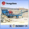 frantoio mobile usato in impianto di frantumazione di pietra