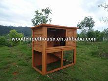 Double-deck Wooden Rabbit Hutch