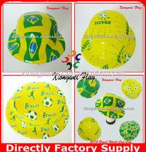2014 Brasil World Cup PVC brazil fans cap