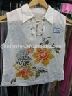 fashionable printed linen blouse of different style