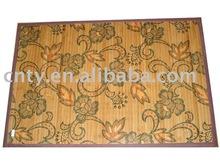 Printed bamboo floor rug