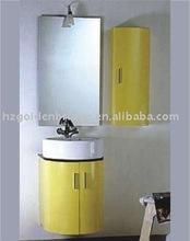 Yellow pvc round wall hung cheap bathroom furniture GBP965
