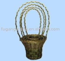wicker hanging flower basket garden basket set of 3