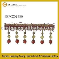 acrylic crystal beaded fringe with high quality and reasonable prices