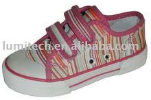 buckle strap kid vulcanized canvas shoe wholesale