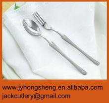 Sanding Stainless Steel Children Spoon And Fork