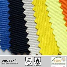 Light Weight 230g/m2 Flame Retardant Cotton Twill Fabric Export EU Market