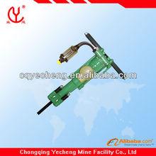 mining electric rock drill on airfeed leg YT28