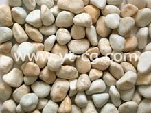 Tumbled pebble stone , yellow pebble (B020A)