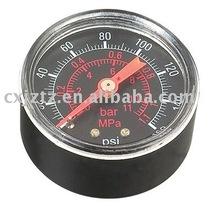 """2.5"""" pressure gauge with black aluminum dial"""