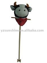 baby plush bobby stick cow