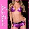 2012 Newest Shiny Design Purple Sexy Clubwear