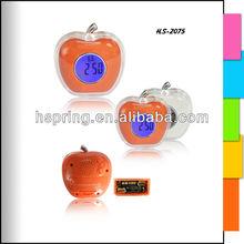 Apple shape clock