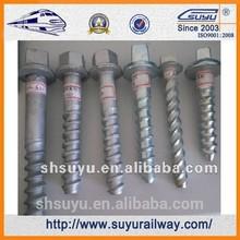Suyu Railway Sleeper screw,rail bolt
