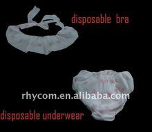 Disposable print desgin non woven underwear for SPA