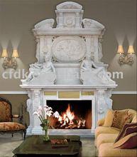 Hot Sale White Stone Fireplace Mantel