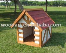A shape Wooden Dog Kennel,Solid Wood,FSC