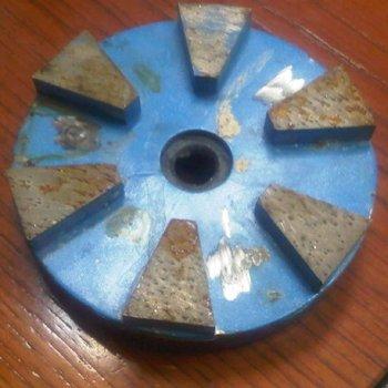 4''(100mm) Blue Metal Bond Marble, Limestone, Travertine and Terrazzo Diamond Grinding Wheel with Pie Shape Segment--STPE
