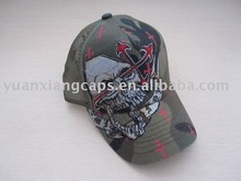 skull embroidery party cap and hat