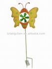 Metal butterfly garden windmills stake